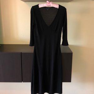 all black midi dress